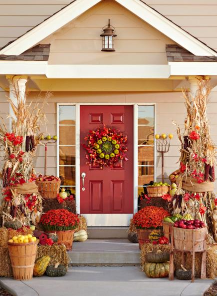 3 fun themes for fall door decorations - Fall Door Decorations