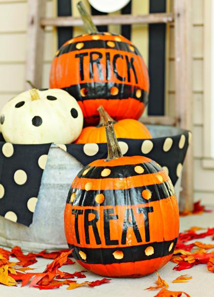 Trick or treat pumpkins & 50 Pumpkin Decorating Projects | Midwest Living