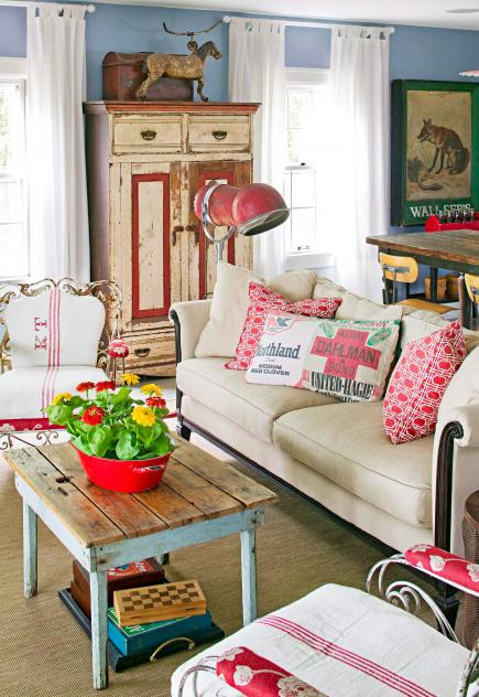 Decoracao De Sala Retro ~ Decorating Ideas for Vintage Finds  Midwest Living