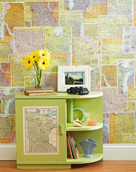 10 Ideas for Decorating with Maps | Midwest Living