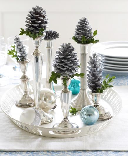 50 easy christmas centerpiece ideas midwest livingchristmas centerpiece ideas silver candlesticks