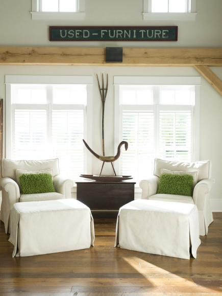 Barn-inspired living room