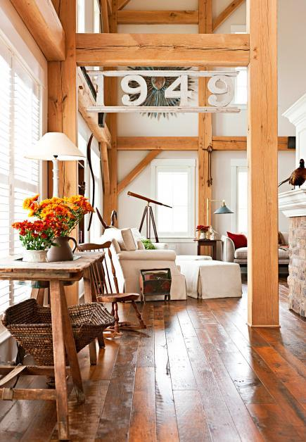 country christmas living rooms