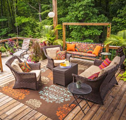 Cheap outdoor furniture ideas Homemade Make It Comfy Outdoor Furniture Midwest Living 30 Ideas To Dress Up Your Deck Midwest Living