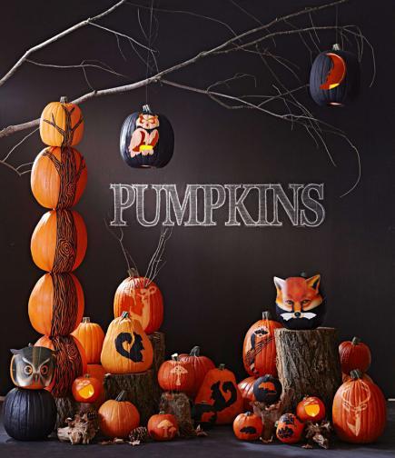 photo regarding Pumpkin Stencil Printable named Totally free printable woodland pumpkin stencils Midwest Dwelling