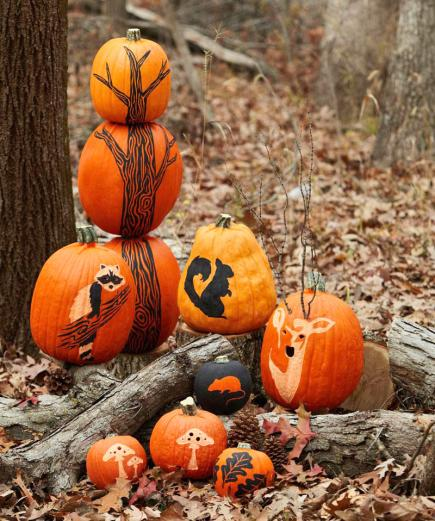 more pumpkin decorating ideas - Pumpkins Decorations