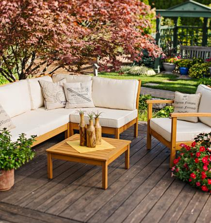 30 ideas to dress up your deck midwest living rh midwestliving com outdoor deck furniture sets outdoor deck furniture ideas