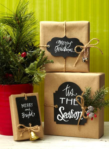 chalkboard tags - Christmas Present Decoration