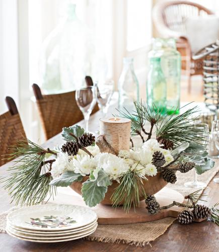 Pleasing 50 Easy Christmas Centerpiece Ideas Midwest Living Home Interior And Landscaping Ologienasavecom