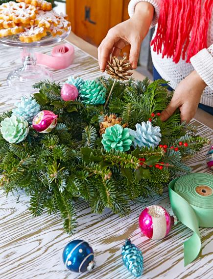 Wreath crafting party