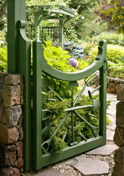 garden gate ideas. Garden Tool Gate Ideas