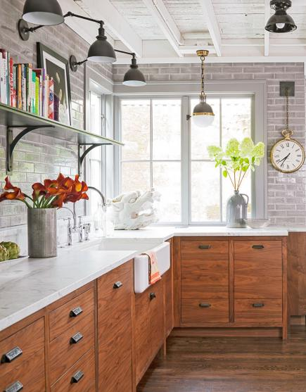 Kitchens for every style midwest living - Kitchen designs without upper cabinets ...