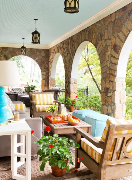 Soft-hued porch