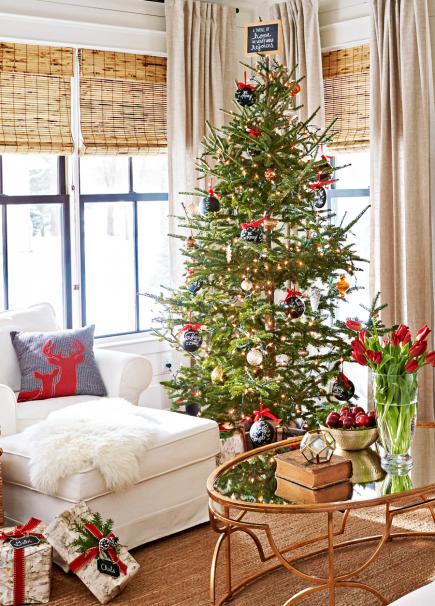 25 Beautiful Christmas Living Rooms