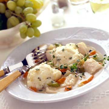 Chicken with Lemon-Thyme Dumplings