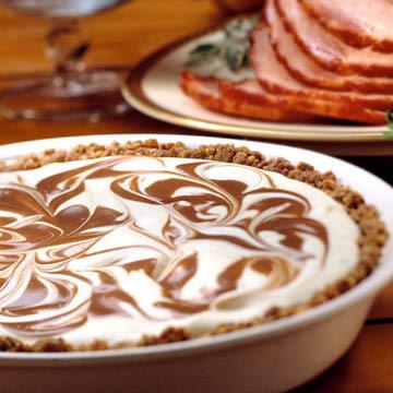 chocolate eggnog swirl pie - Christmas Pies
