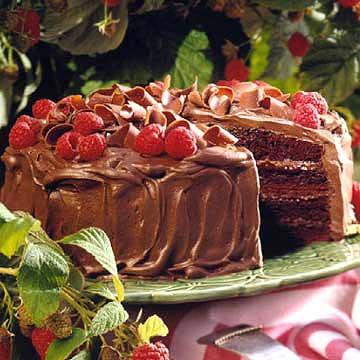 Chocolate-Raspberry Mousse Cake