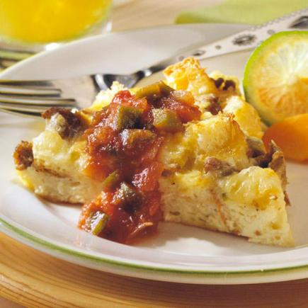Mexican Sausage Strata
