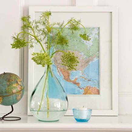 Ideas For Decorating With Maps Midwest Living
