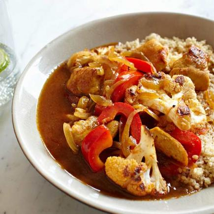 Sweet and Spicy Chicken and Cauliflower Curry