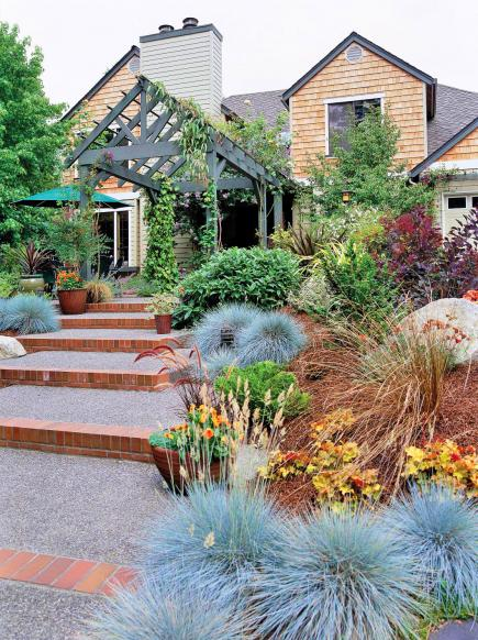 Landscaping Ideas Using Grasses : How to use ornamental grasses in midwest gardens living