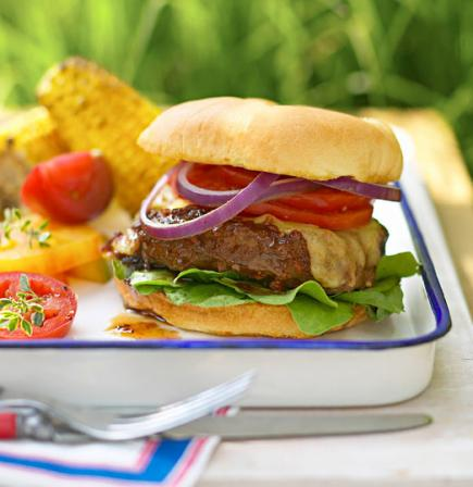 Barbecue-Sauced Burgers