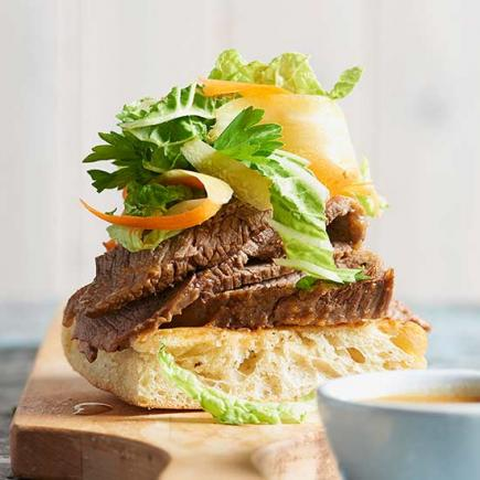 Beer-Soaked Brisket Sandwiches