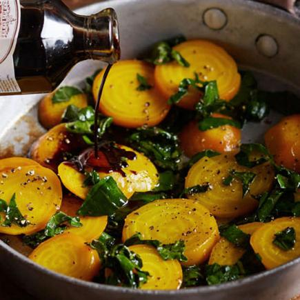 salad savory and spice beets and beet greens salad roasted golden beet ...