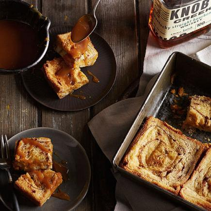 Bourbon-Spiked Pumpkin Bread Pudding