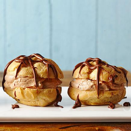 Chocolate Hazelnut Cream Cheese Puffs