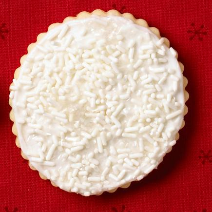 Snowfall cookie