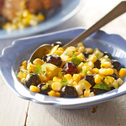 Sweet-Hot Corn and Blueberry Relish