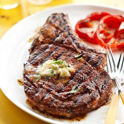 Cowboy Steak and Whiskey Butter