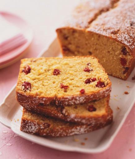 Cranberry Streusel Pound Cake