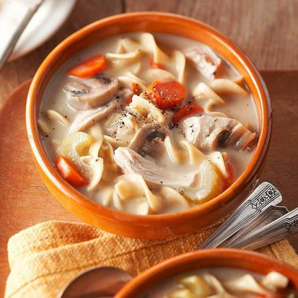 Slow-Cooker Creamy Chicken Noodle Soup