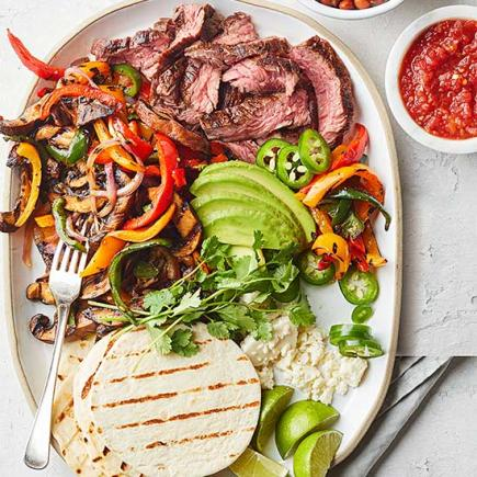 Pepper and Portobello Fajitas
