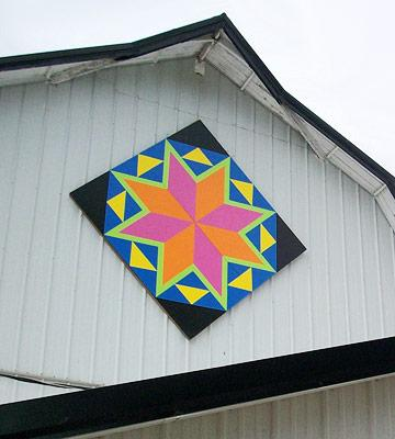 Italian Tile barn quilt, Green County, Wisconsin