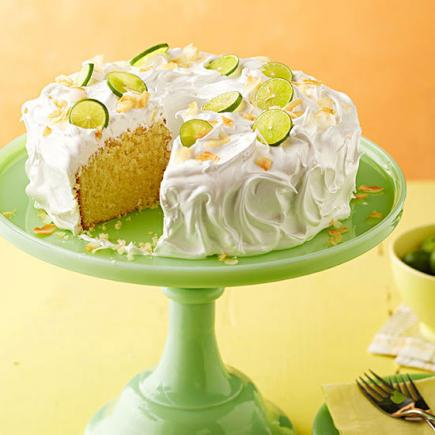 Awesome Key Lime Coconut Cake With Marshmallow Frosting