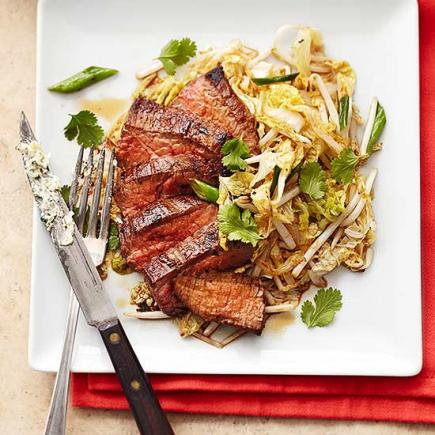 Lemon Butter Flank Steak