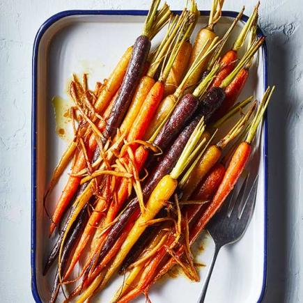 Maple-Glazed Roasted Carrots with Ginger