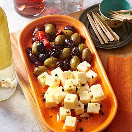 30 no cook potluck and picnic recipes midwest living marinated cheese cubes forumfinder Choice Image