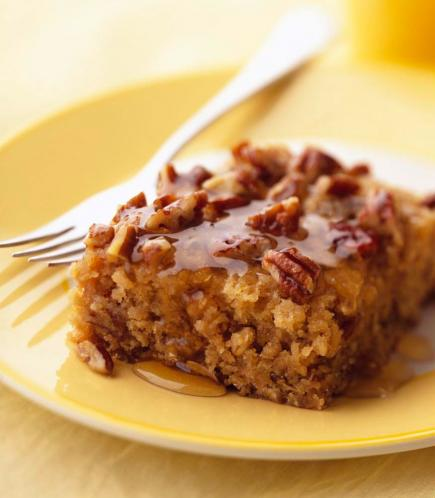 Honey-Glazed Buttermilk Oatmeal Coffee Cake