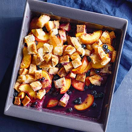 Peach-Blueberry Brown Betty