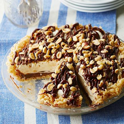 Peanut Butter-Fudge Pie