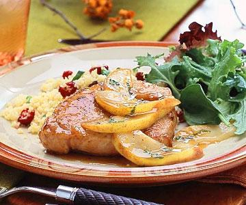 Pork Chops with Pear-Maple Sauce