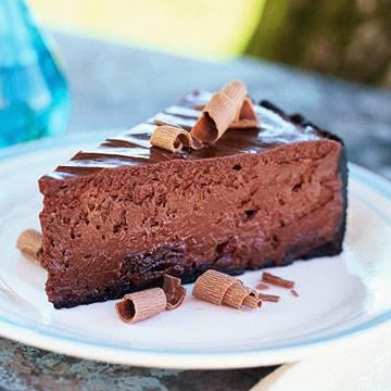 Chocolate Dried Cherry Cheesecake