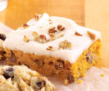 Sour Cream Pumpkin Bars recipe