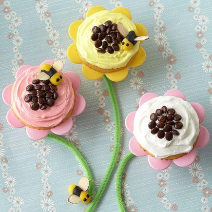 Fun Flower Cupcakes
