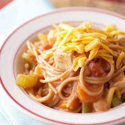 Cheesy Multigrain Spaghetti Casserole