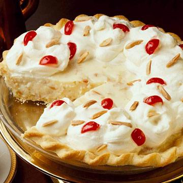 fancy almond cream pie - Christmas Pies